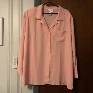 Susan Graver blush pink shirt